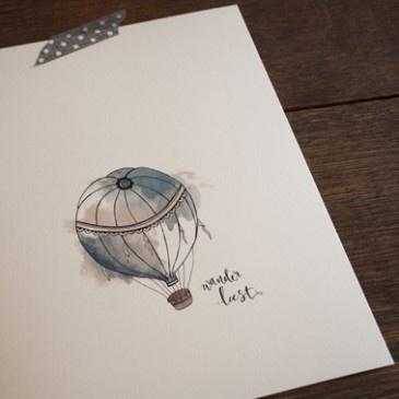 An April Idea - Print - Hot Air Balloon