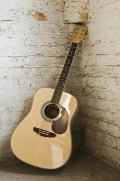guitare dans coin de mur