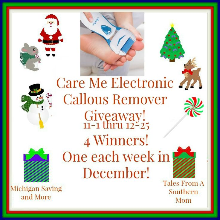 CareMe Electronic Callous Remover Giveaway! 12/25 ~ Tales From A Southern Mom