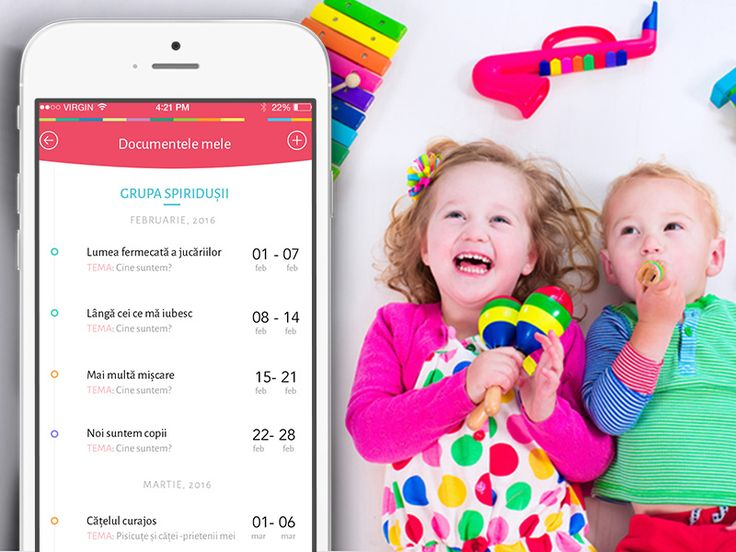 Mobile app for parents and teachers by Florentina Sarov