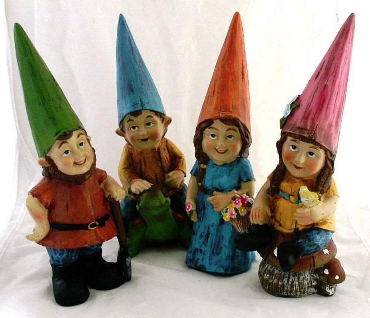 "Garden ""Gnome"" ""Fairy"" Figurine/Statue-12 1/2"" 4 Variations to Choose From-Cute"