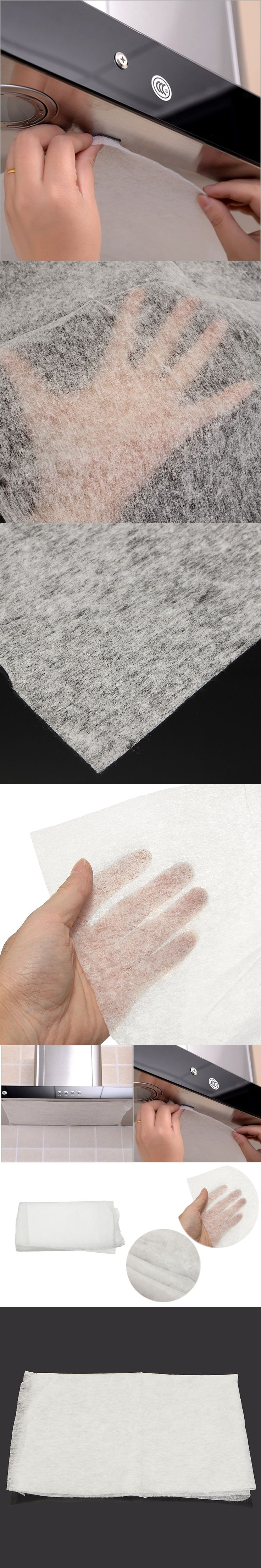 Universal 45x60cm Kitchen Absorbing Paper Non-woven Anti Oil Cotton Filters Cooker Hood Extractor Fan Filter Non-woven