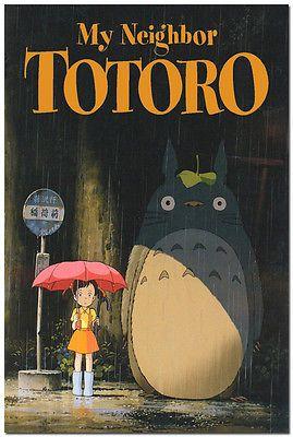 My Neighbor Totoro Anime Movie Art Silk Poster 24x36 inch Hayao Miyazaki