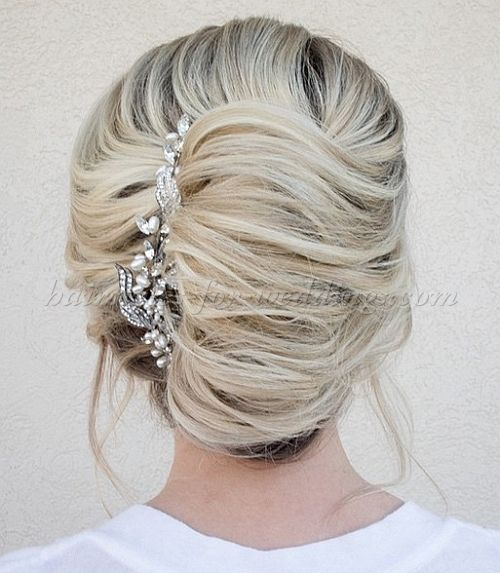 french twist hairstyles for brides - french twist wedding hairstyle