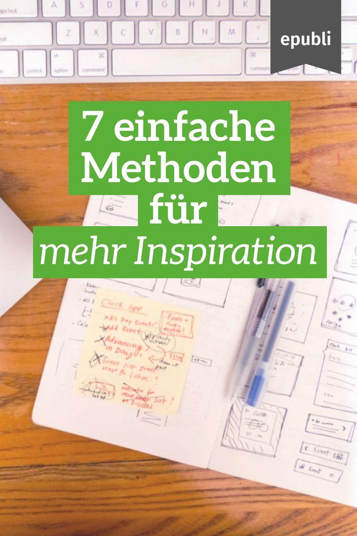 Euch fehlt die Inspiration zum Schreiben? Probiert doch mal eine unserer vorgestellten Methoden aus: http://www.epubli.de/blog/inspiration-autoren #epubli #schreibtipps #inspiration