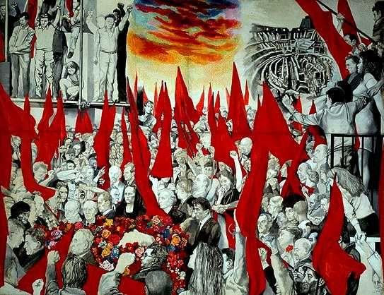 Funerali di Togliatti, 1972 - Renato Guttuso