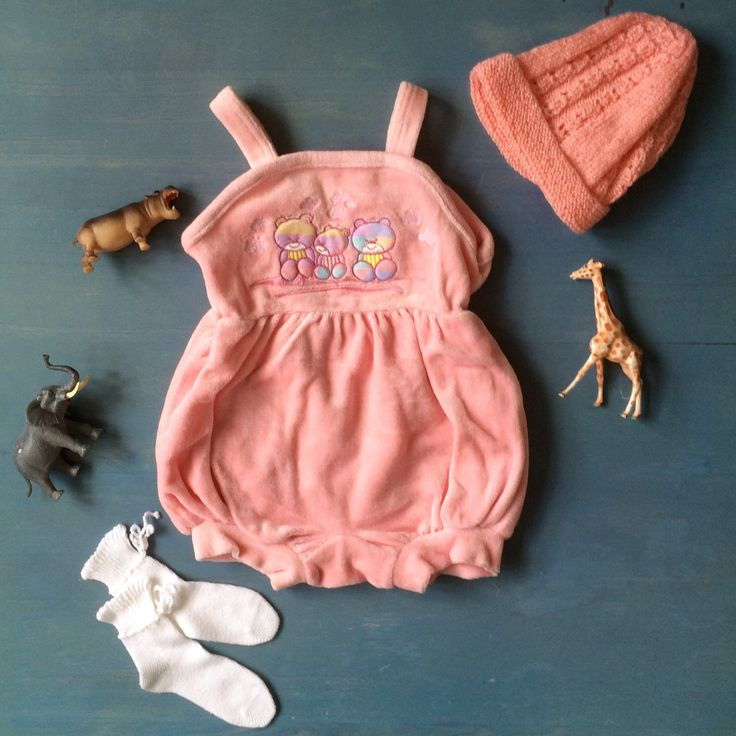 Baby vintage outfit of the day💞 Bubblegum Pink Playsuit