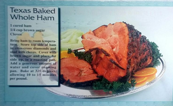 Texas Baked Whole Ham