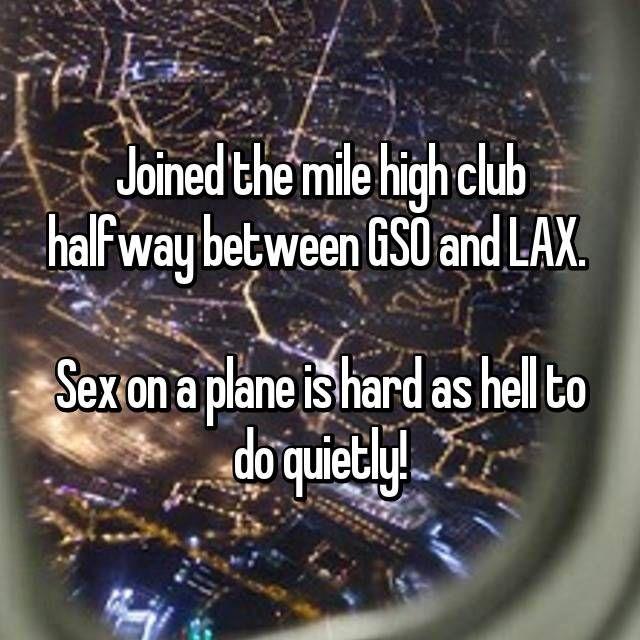 17 Mile High Club Members Confess Their Scandalous Escapades In