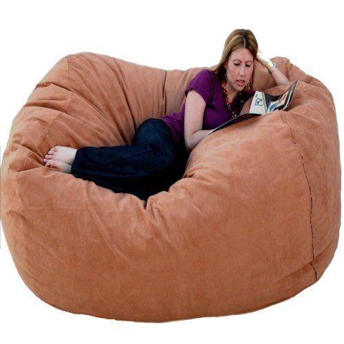 Cozy Sack 6 Feet Bean Bag Chair Large Rust