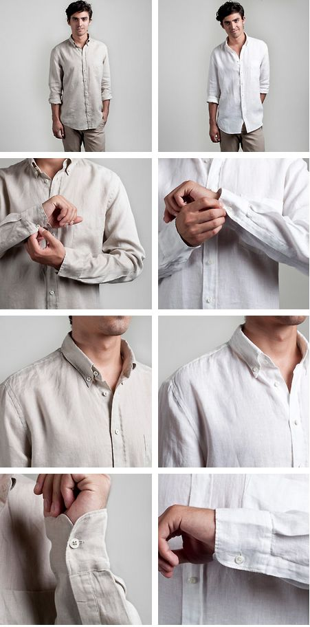 The Linen Shirt  Same great fit as our Oxford. Just for summer.
