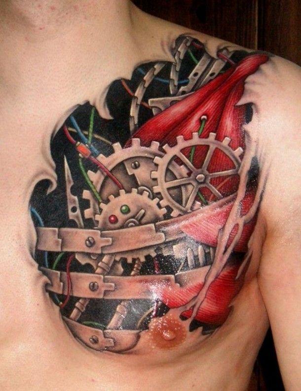 Mechanical Tattoos Designs