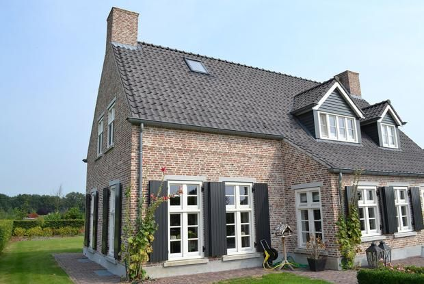 Voorbeeld gevel metselwerk kozijnen pinterest baksteen gevel en nieuwbouw for Moderne stijl gevel