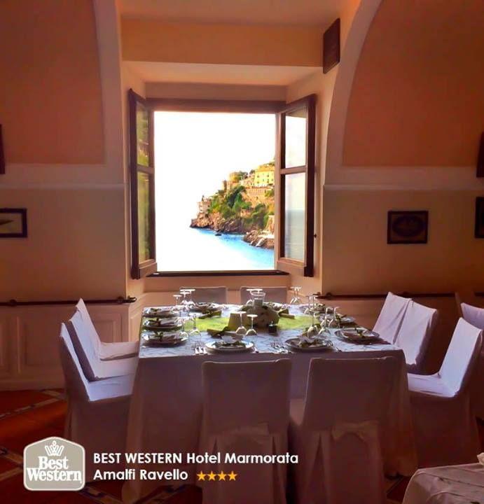 Una finestra sul #paradiso #buongiorno da #ravello - amalficoast #BWhotelmarmorata — presso Best Western Hotel Marmorata.