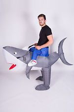 INFLATABLE SHARK FANCY DRESS COSTUME ANIMAL WHALE SUIT HEN STAG OUTFIT