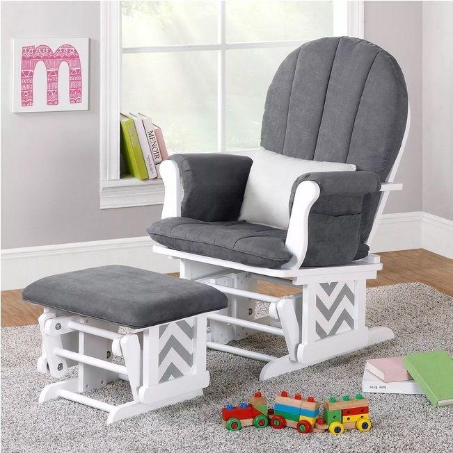 Glider Rocker Ottoman Set Baby Rocking Chair Nursery Furniture Gray Stool Glide #DorelAsia
