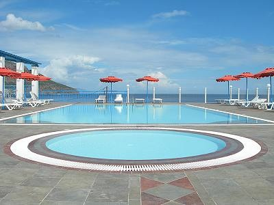 inspirational pool of the hotel The sound of the seas Karpathos Greece