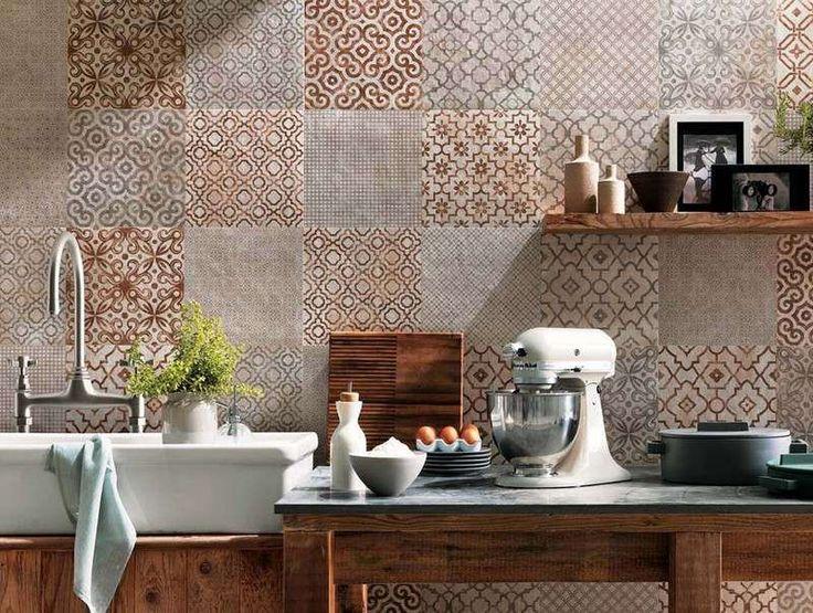 cuisine campagne chic avec crdence en carreaux de ciment fap ceramiche - Esprit Campagne Chic