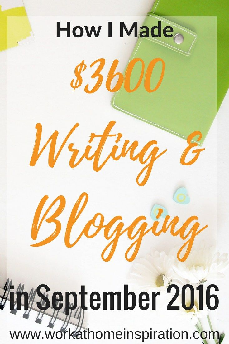 Online income report. How an online entrepreneur makes over $3500 writing and blogging, and how you can too!