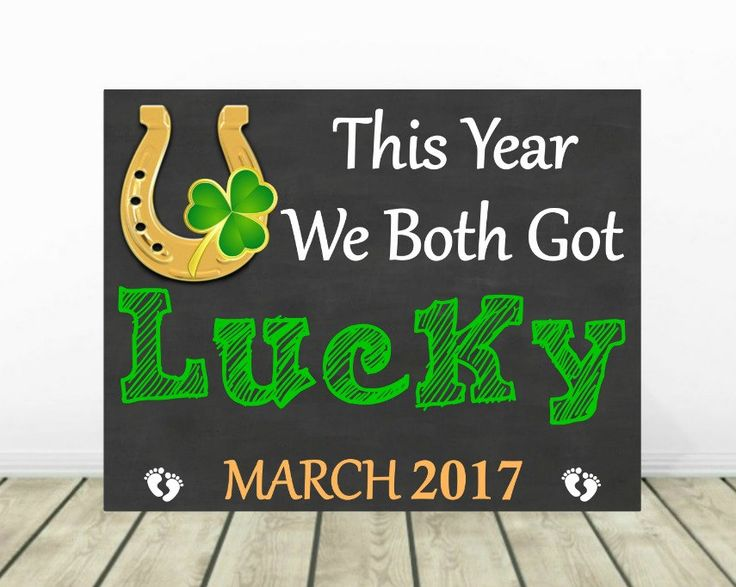 St. Patrick's Day Pregnancy Announcement, St Patrick Baby Announcement, Chalkboard, Baby Reveal, March Pregnancy Reveal, Expecting Baby by PrintsInspiredByMyah on Etsy