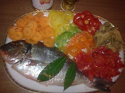 Τσιπούρα με λαχανικά !!! ~ ΜΑΓΕΙΡΙΚΗ ΚΑΙ ΣΥΝΤΑΓΕΣ