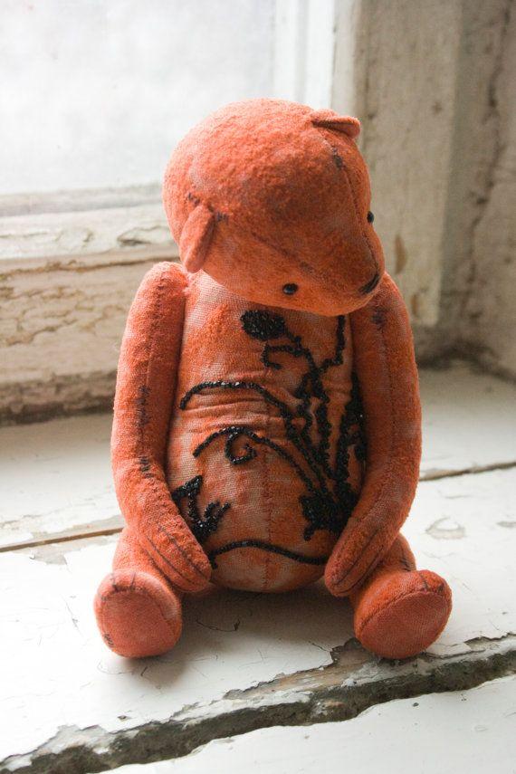 OOAK artist teddy bear Bead by OlesyaMorozovaGF on Etsy