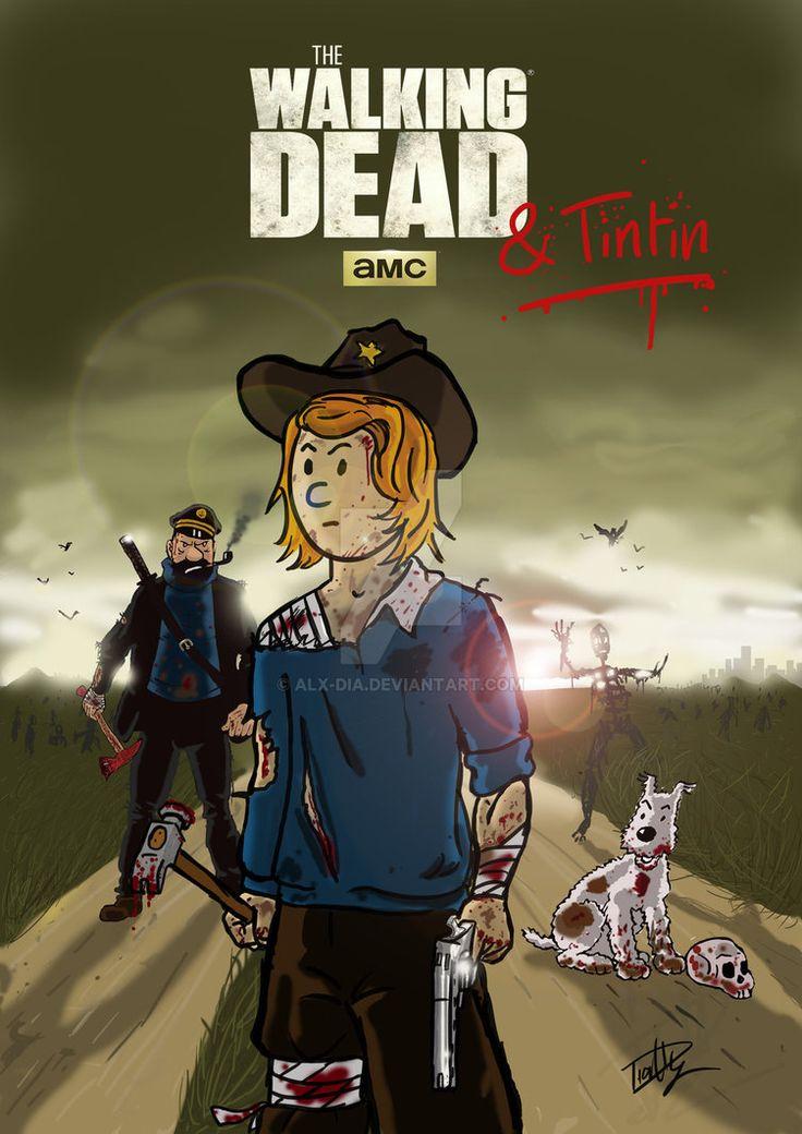 Les Aventures de Tintin - Album Imaginaire - The Walking Dead