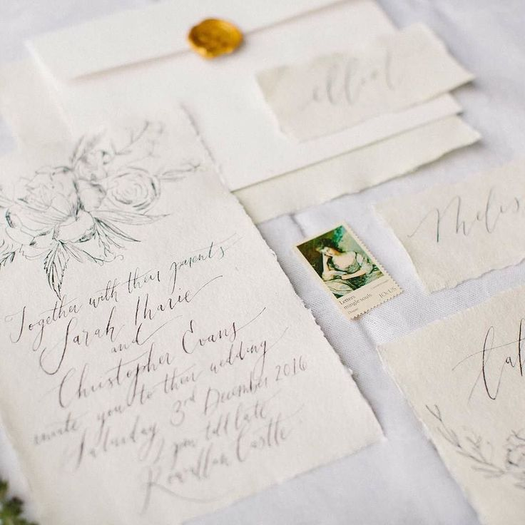 I adore hand drawn and lettered wedding stationery