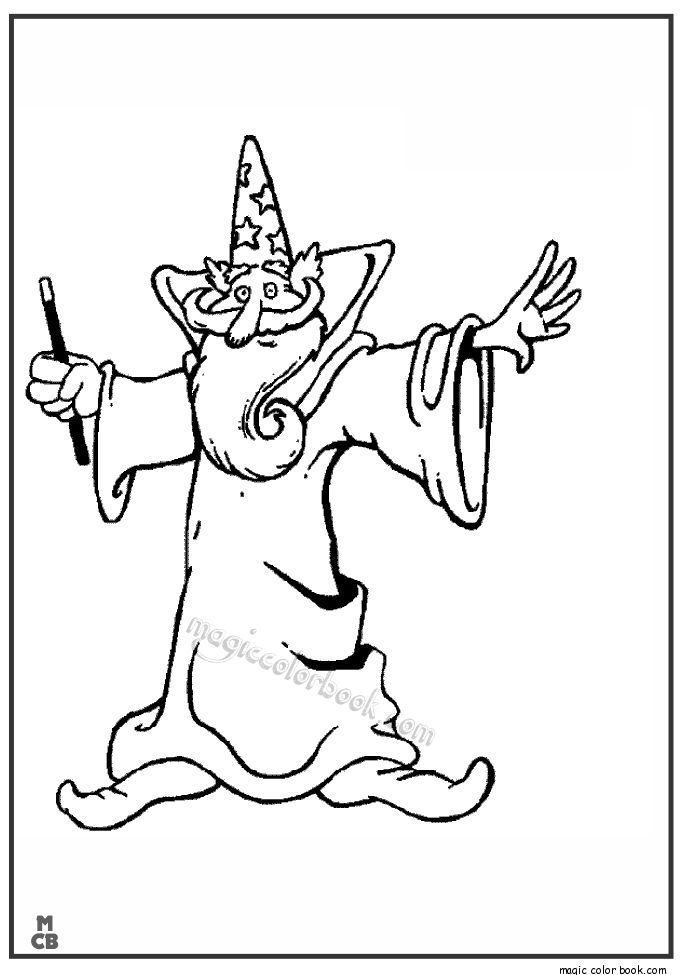 coloring pages magician - photo#40