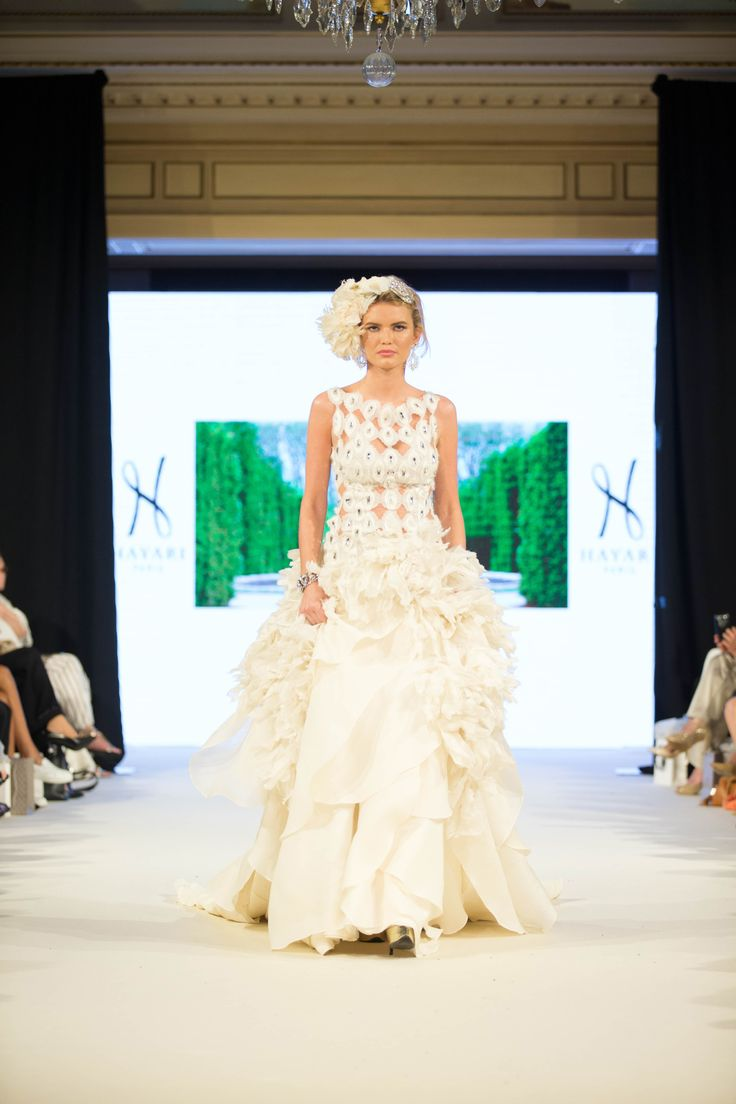 Hayari Paris AW 2016/17 fashion show at George V, Paris.  Wedding dress #hayariparis #robedemariée #weddingdress