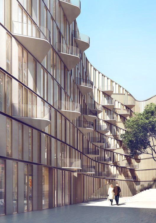 3XN Designs Residential Complex for Downtown Vienna,© 3XN