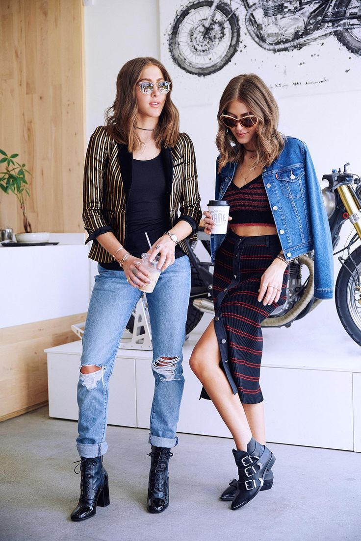Channel total rocker-girl vibes by adding a denim jacket over a matching set, or pairing a cool blazer with perfectly distressed @levisbrand boyfriend jeans. #LiveInLevis #spotlight