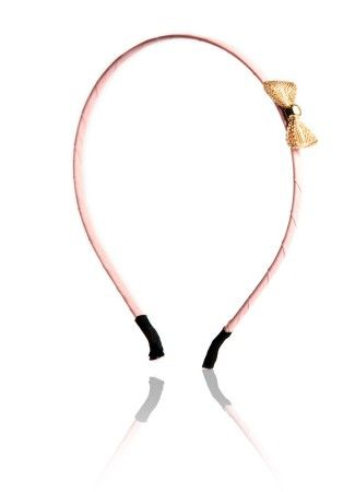 Bottle Light pink Skinny Band With Mesh Bow at Affordable Price