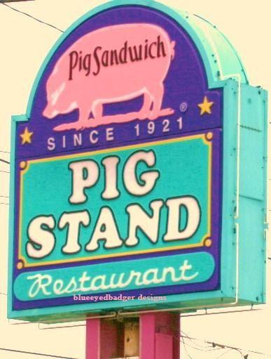 calder pig standbeaumont texasoriginal by blueeyedbadger on Etsy, $18.00