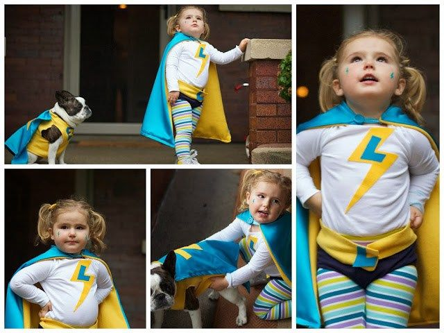 No-Sew DIY Toddler Superhero Costume