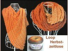 Loop Herbstzeitlose mit 1 Bobbel stricken