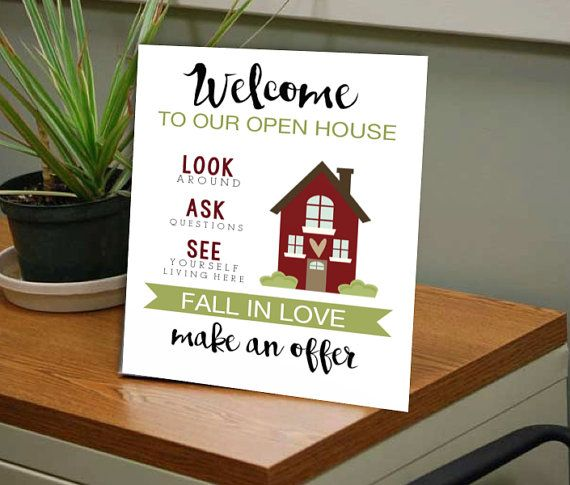 Open House Realtor Welcome Sign In Sign Make an by HouseofHays