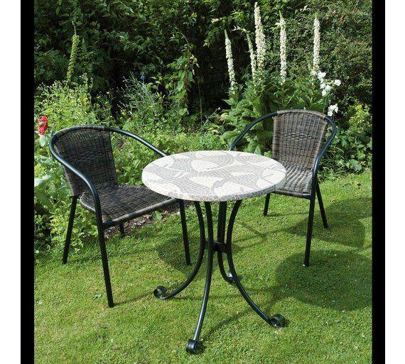 Argos Metal Garden Table And Chairs: Buy Europa Leisure Romano Bistro Set At Argos.co.uk