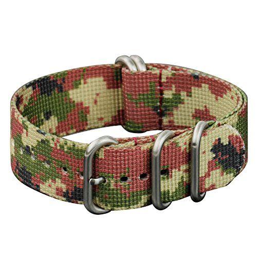INFANTRY Herren Uhrenarmband Uhrenarmbänder Uhrband Nylon Camo Digital Watch Strap Uhren Armband 22mm NEU#WS-ZULU-D-22 - http://uhr.haus/infantry/infantry-herren-uhrenarmband-uhrenarmbaender-d