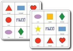 Shape Bingo - Re-pinned by #PediaStaff. Visit http://ht.ly/63sNt for all our pediatric therapy pins