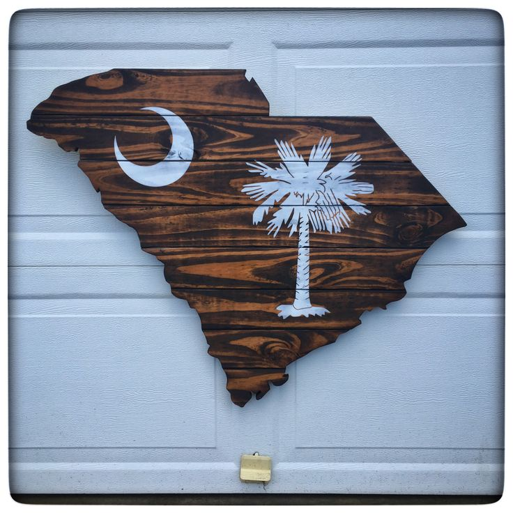 South Carolina Cutout - State Flag - Palmetto - Wood Cutout - Wood Sign by TCDesignWorks on Etsy https://www.etsy.com/listing/493529472/south-carolina-cutout-state-flag