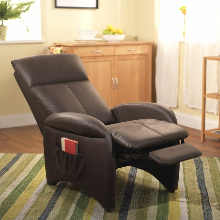 New Brown Leather Lazy Boy Recliner Chair Accent Living