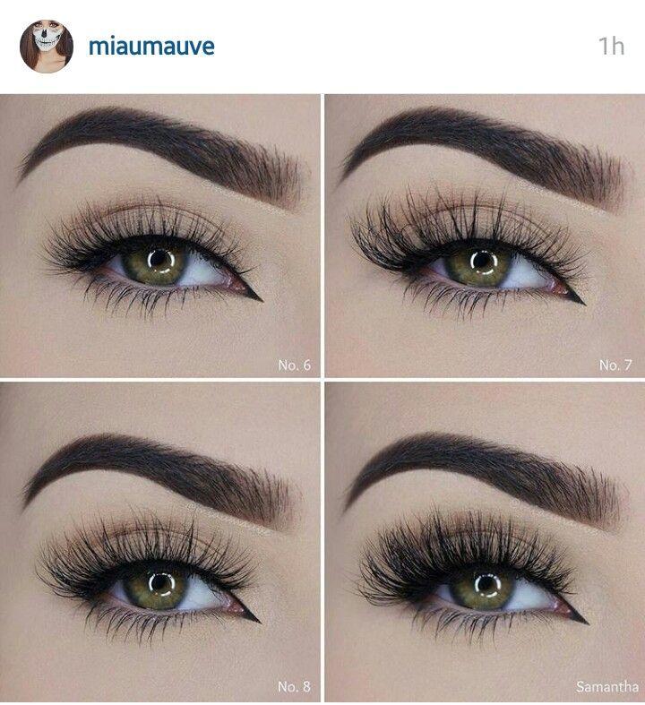 Blinking Beaute lashes in styles 6,7,8, Samantha INSTA: miaumauve