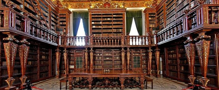 Biblioteca Joanina – Grand & Historic Library in Coimbra - This amazing library has live-in bats, eating the bugs that threaten the books: