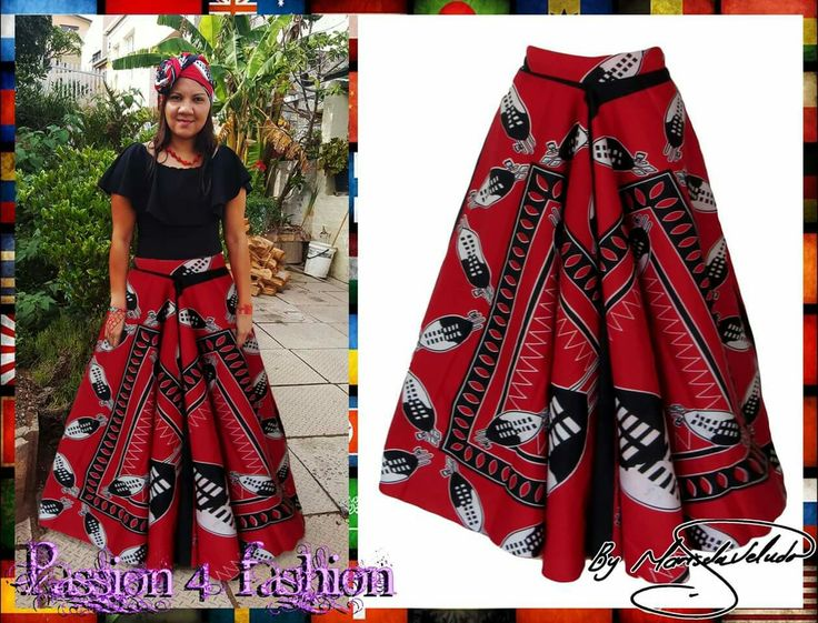 Swati red & black flowy long maxi traditional skirt with matching doek strap. #mariselaveludo #fashion #traditionalwear #passion4fashion #traditionalskirt #swati #redandblackswatiskirt #moderntraditionalwear