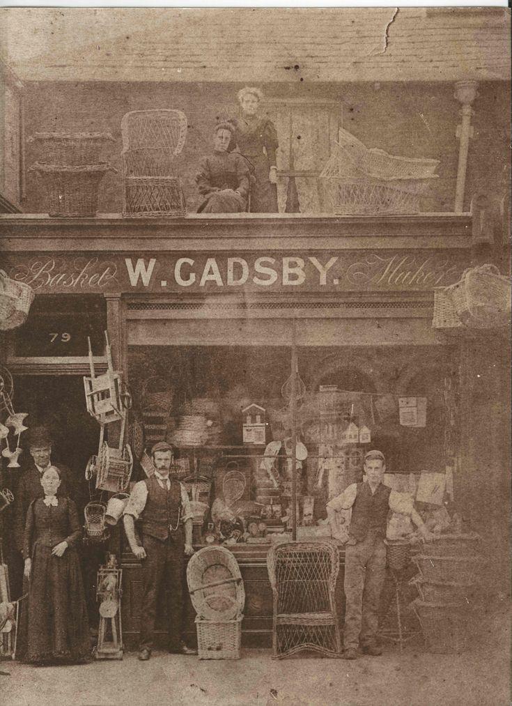 Gadsby's original shop - Basket Maker - Stratford, London (Late 1800s)