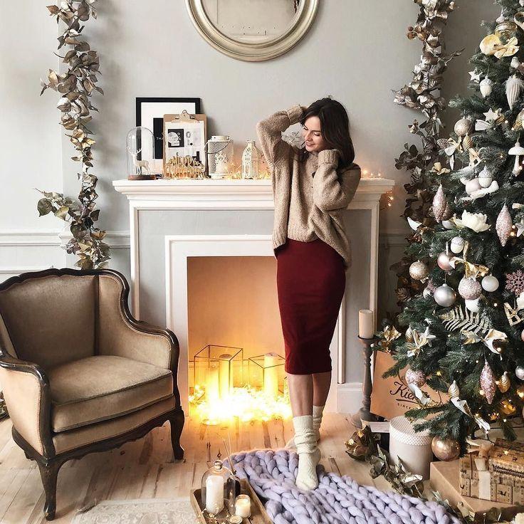нужно луки в свитерах для новогодней фотосессии дом самом