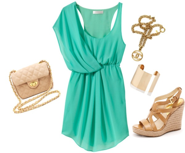 Untitled #6, created by jennamd on Polyvore: Summer Dresses, Mint Green, Bridesmaid, One Shoulder, Mint Dresses, The Dresses, Mint Colors, Grecian Dresses, Turquoise Dresses