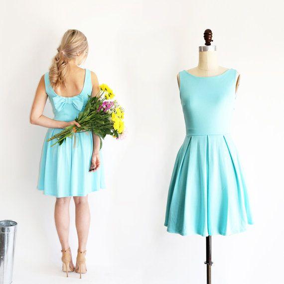 JANUARY Aqua Light seafoam teal bridesmaid dress by ShopApricity