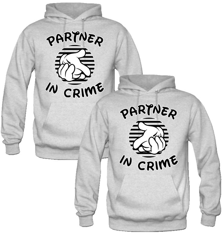 partners in crime couple Hoodies